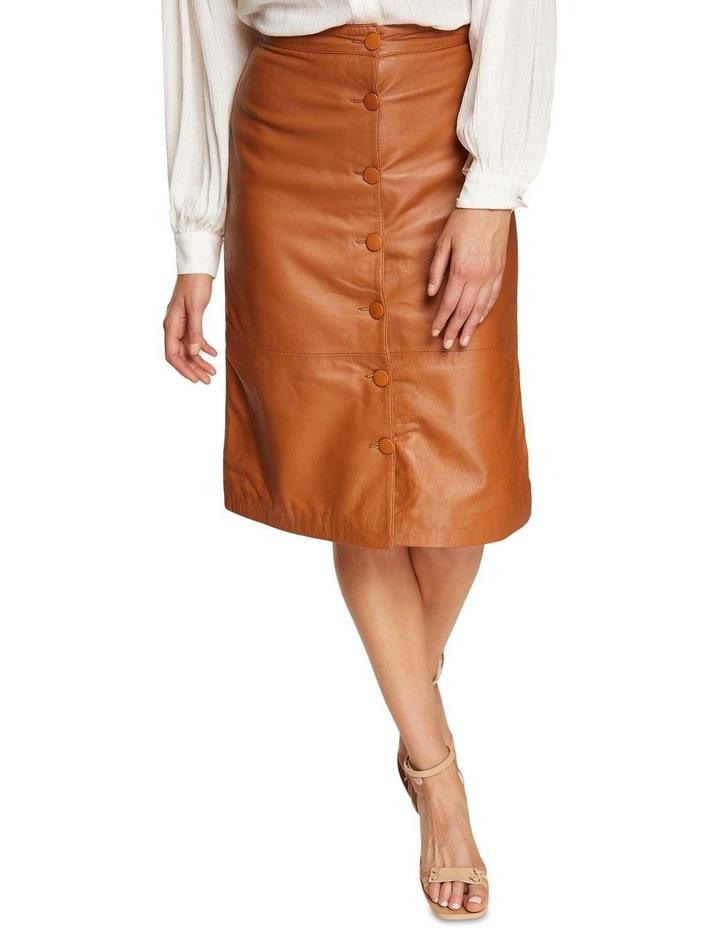 Gigi Leather Skirt image 4