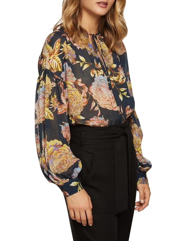 Mirabelle Navy Floral Tunic Top image 1