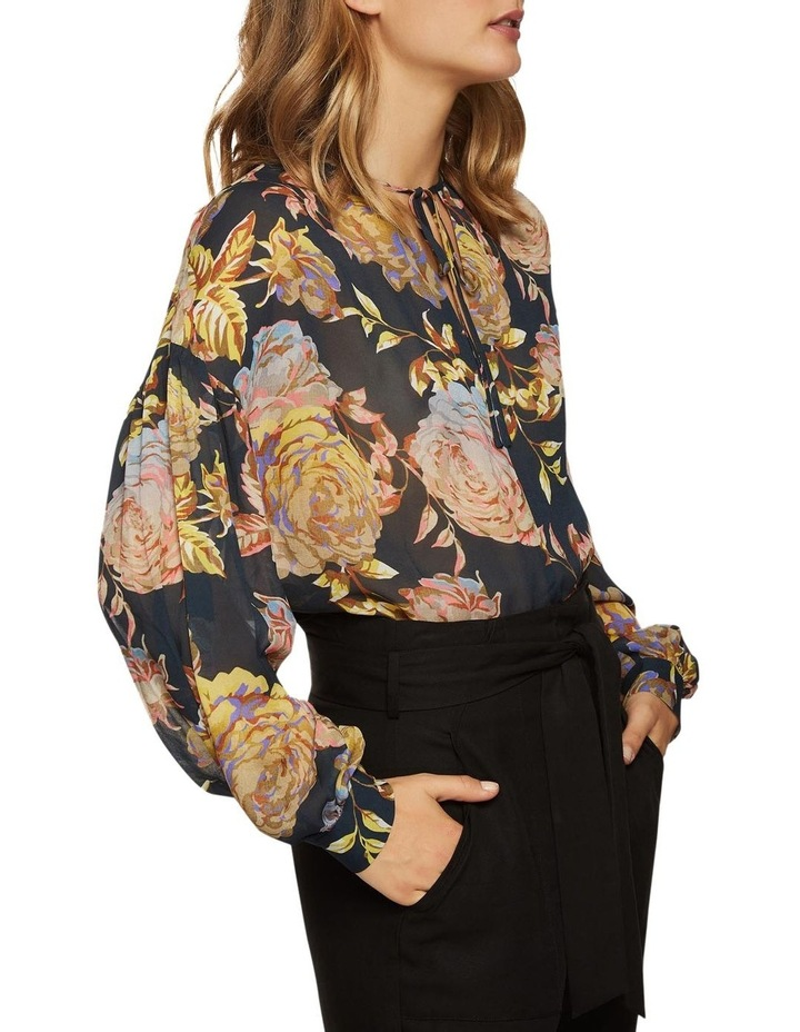 Mirabelle Navy Floral Tunic Top image 2