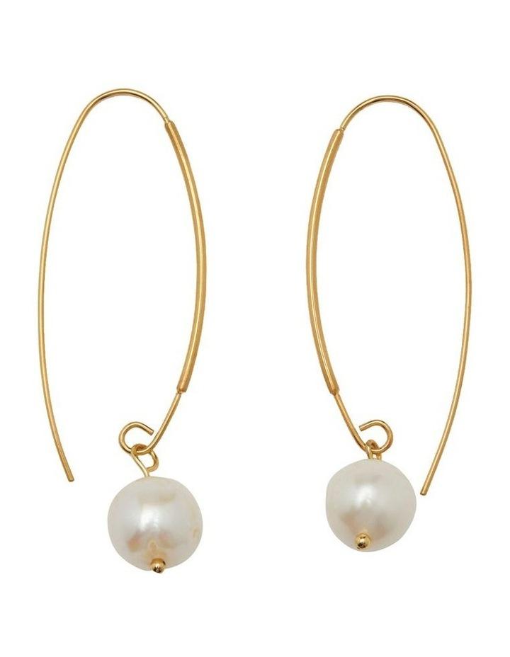 Floriana Pearl Hoop Earrings image 1