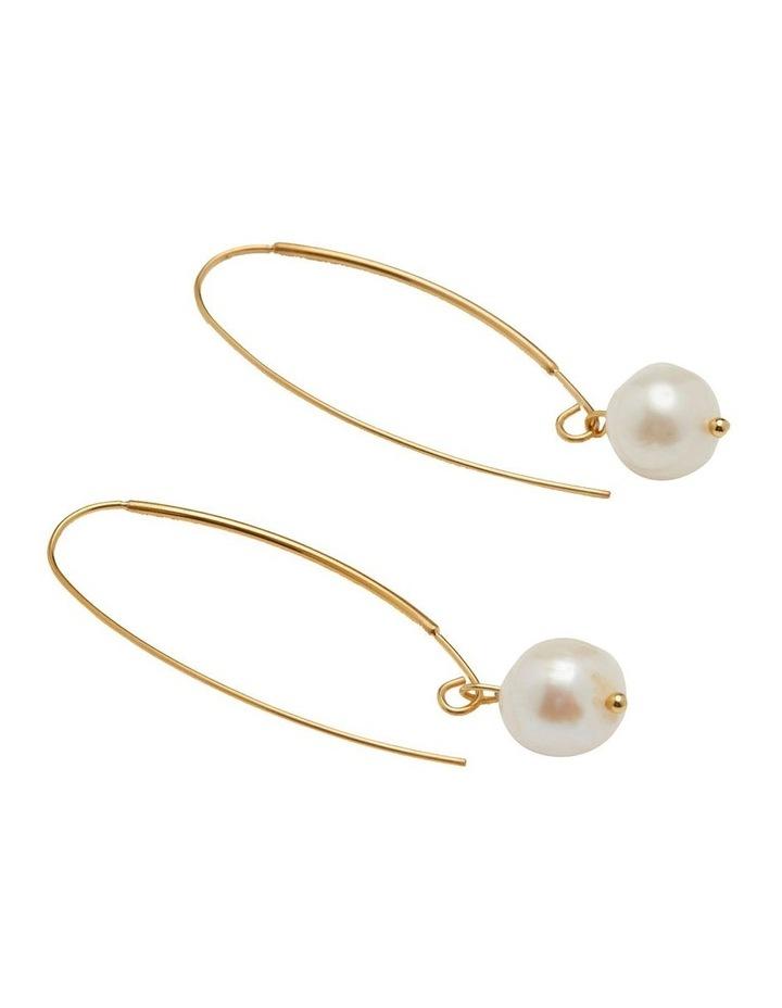 Floriana Pearl Hoop Earrings image 2