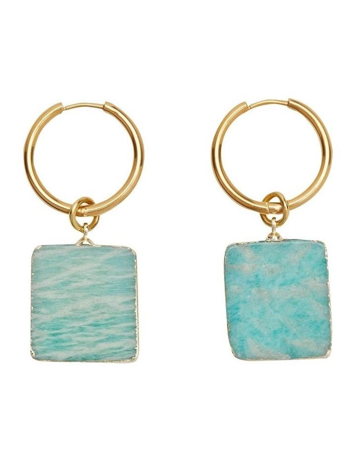 Yves Amazonite Stone Earrings image 1