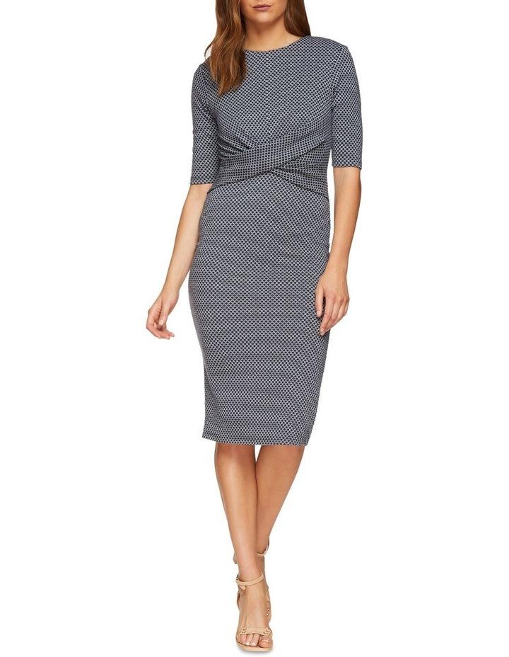 Annie Stretch Knit Geo Dress image 1