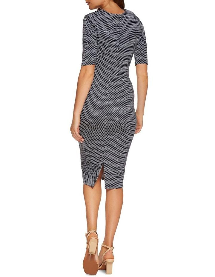 Annie Stretch Knit Geo Dress image 3