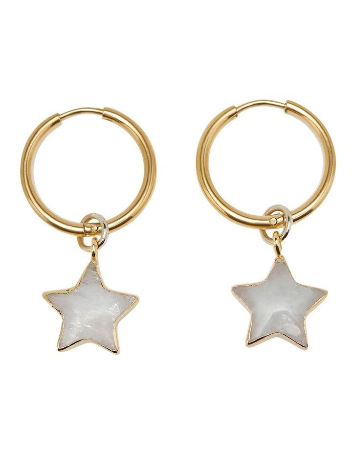 Hedi Moonstone Star Earrings image 1