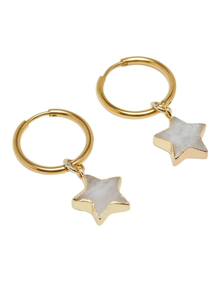 Hedi Moonstone Star Earrings image 2