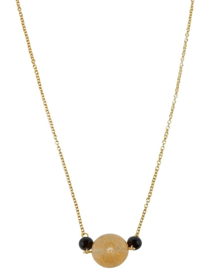 Serina Quartz & Onyx Necklace image 1