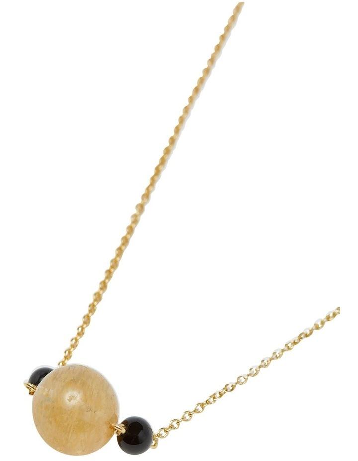 Serina Quartz & Onyx Necklace image 2