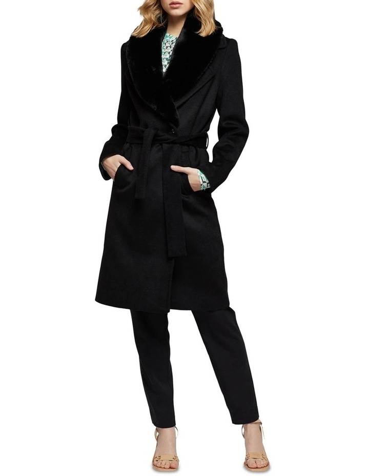 Fallon Detachable Fur Collar Coat image 1