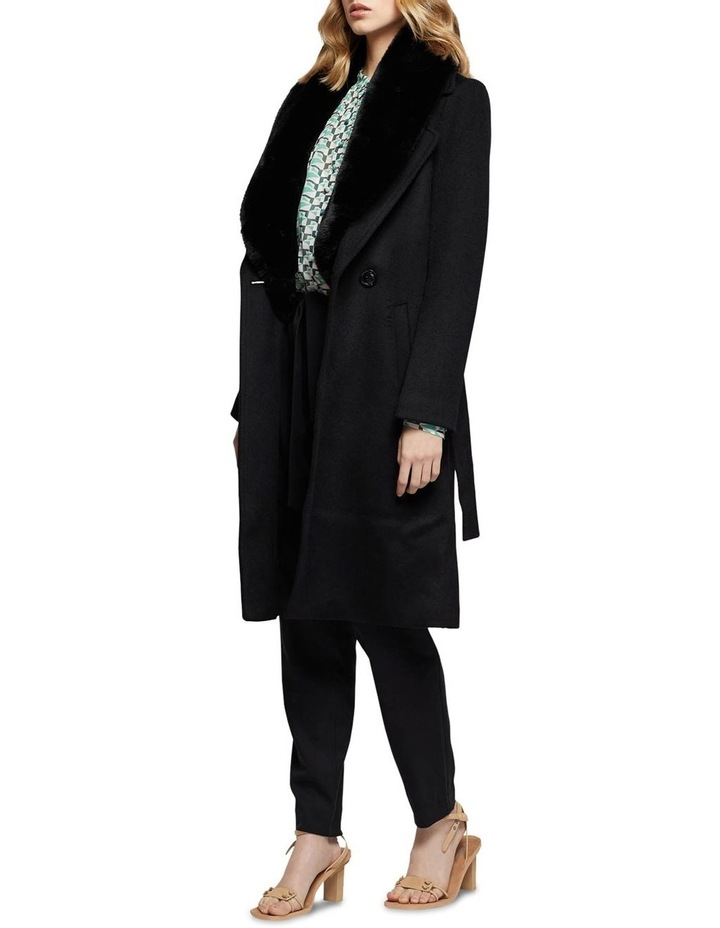 Fallon Detachable Fur Collar Coat image 2