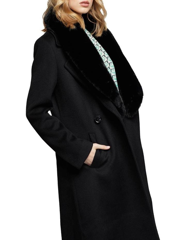 Fallon Detachable Fur Collar Coat image 4