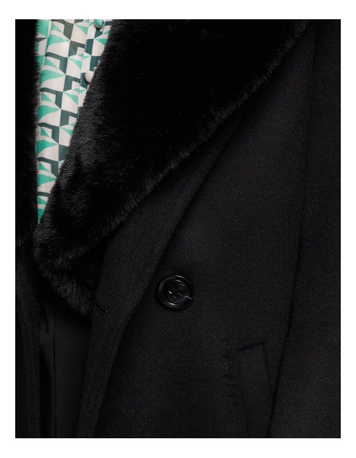 Fallon Detachable Fur Collar Coat image 6