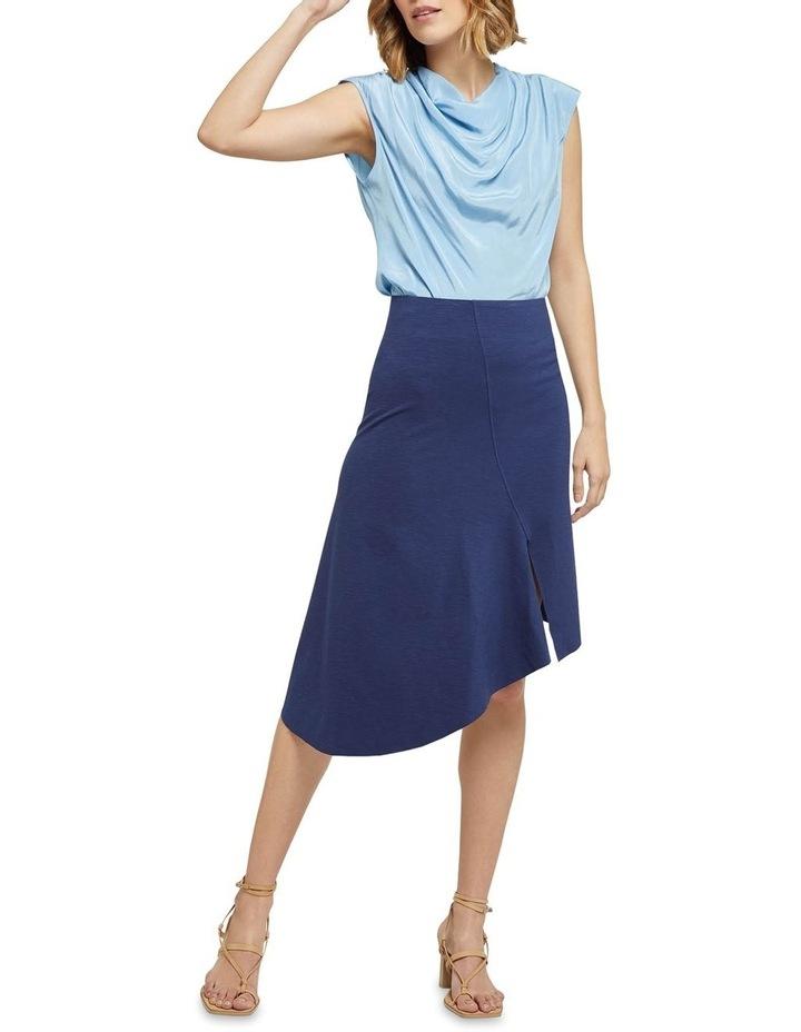 Lucy Asymetric Hem Ponti Skirt image 5