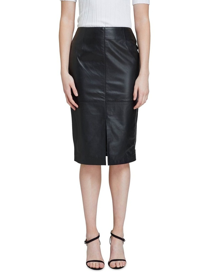 Darby Leather Pencil Skirt image 1