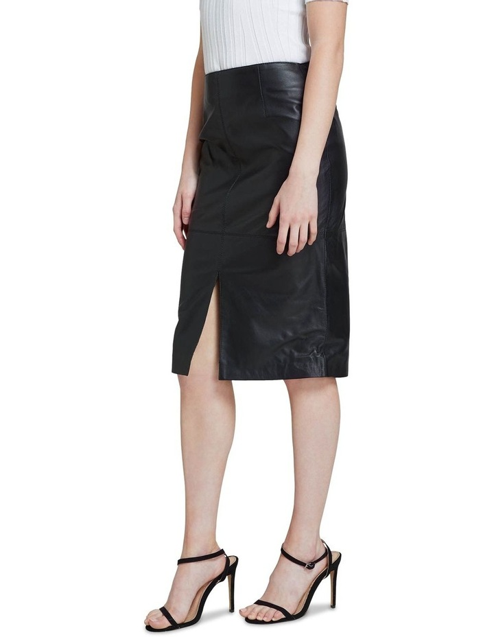Darby Leather Pencil Skirt image 2
