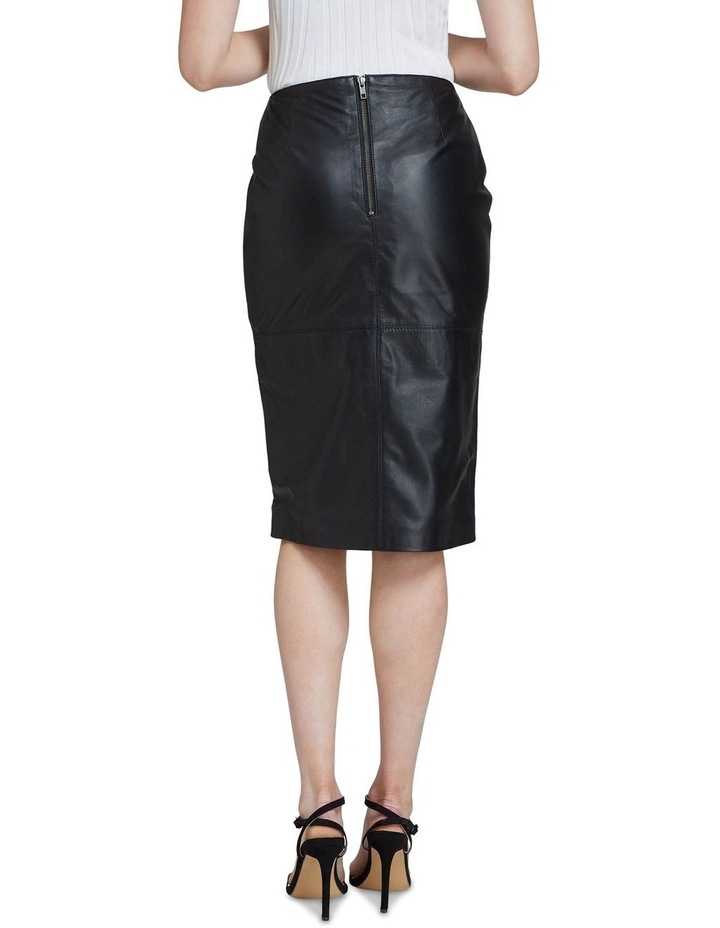 Darby Leather Pencil Skirt image 3