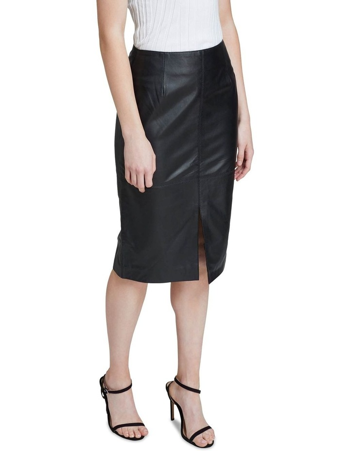 Darby Leather Pencil Skirt image 4