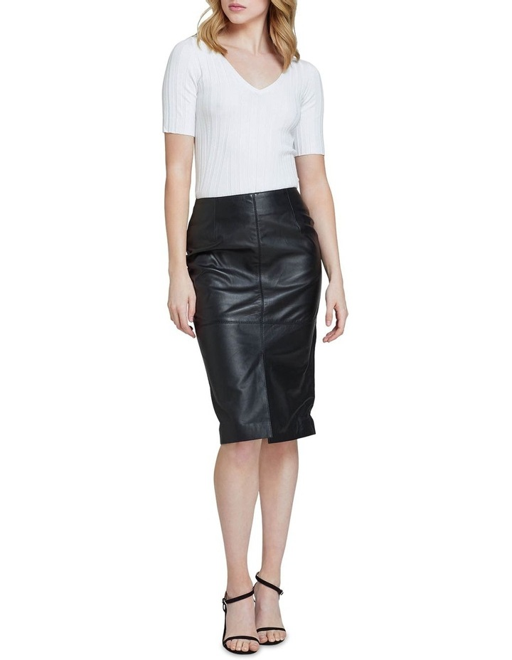 Darby Leather Pencil Skirt image 5