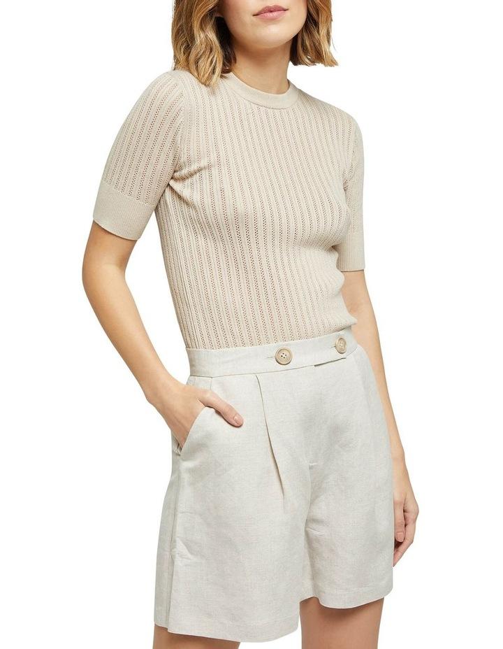 Rosie Pointelle Short Sleeve Knit image 1
