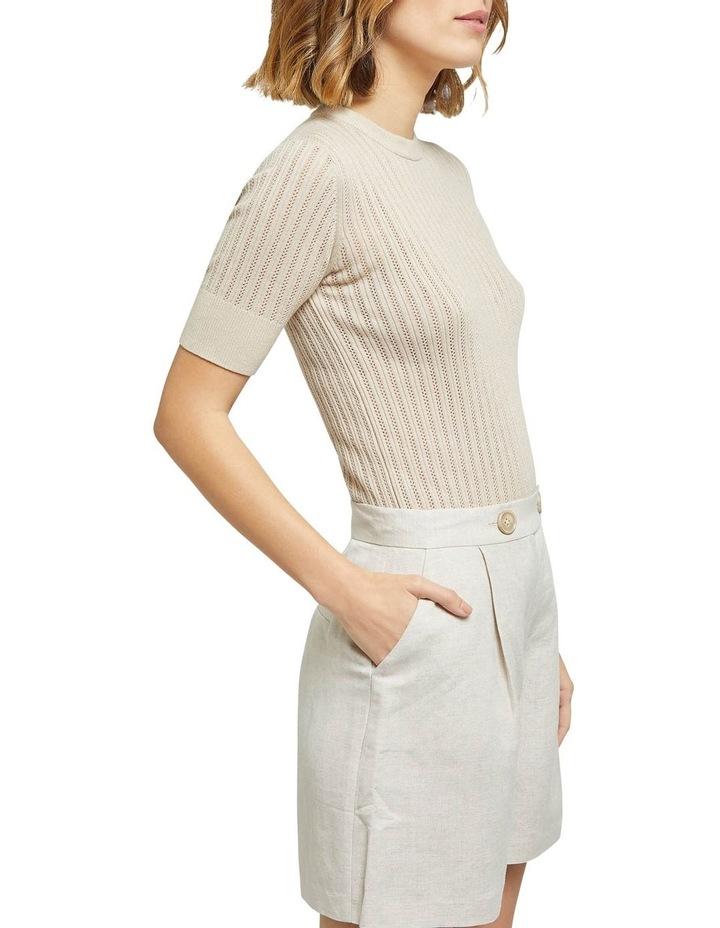 Rosie Pointelle Short Sleeve Knit image 2