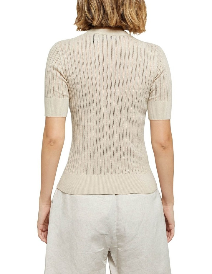 Rosie Pointelle Short Sleeve Knit image 3