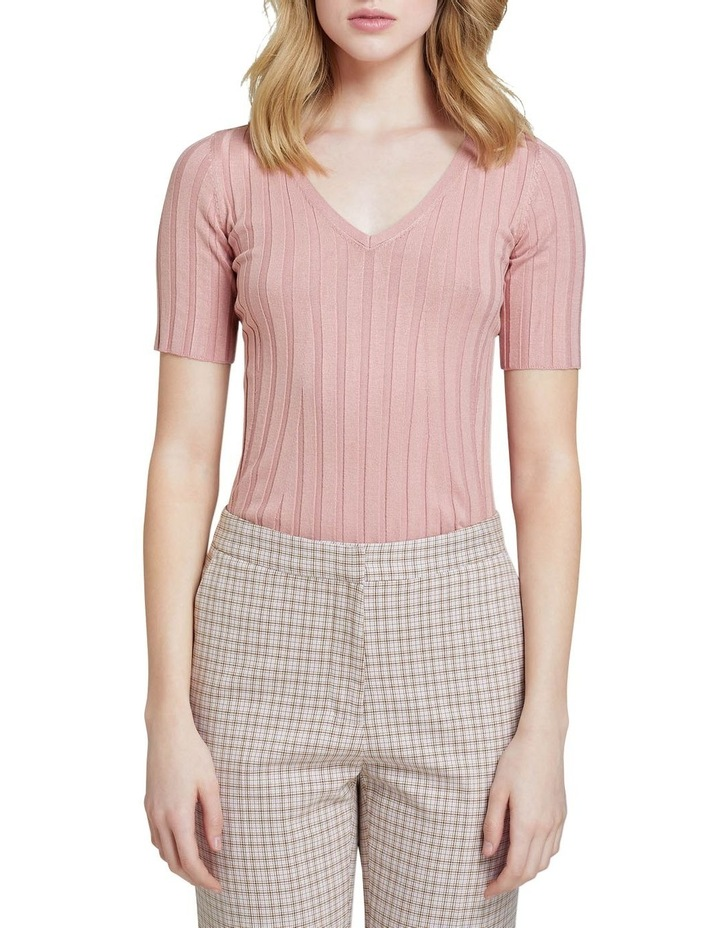 Lucy Rib V-neck Top image 1