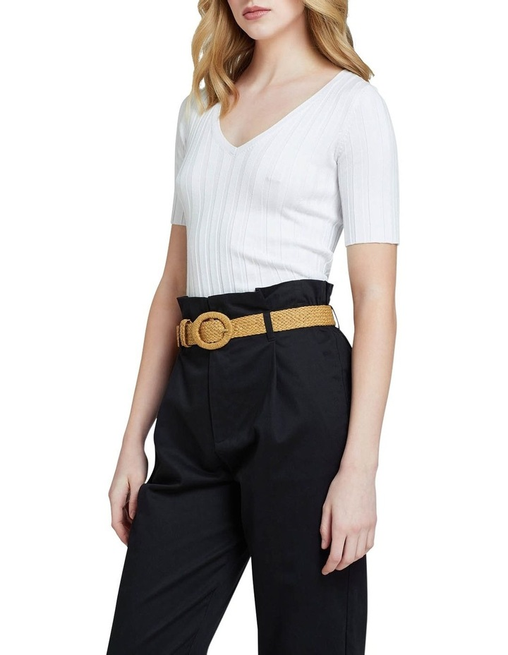 Lucy Rib V-neck Top image 2