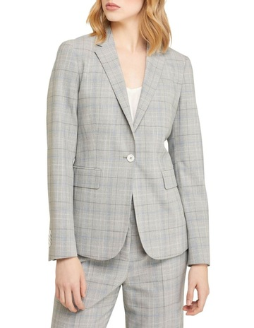 Grey/blue check colour