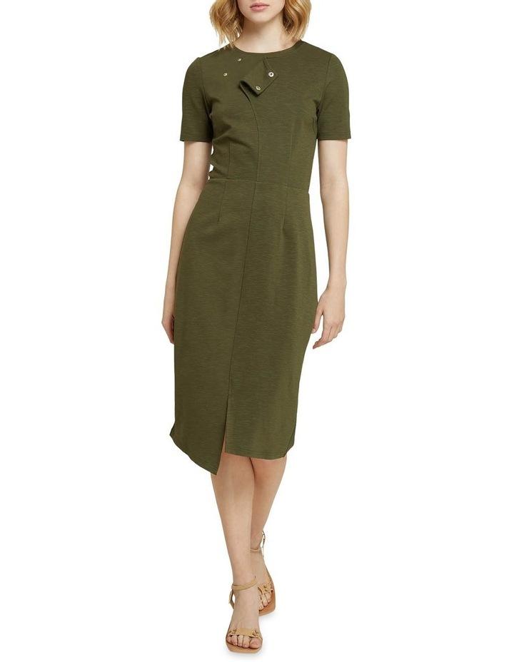 Kim Stud Detail Ponti Dress image 1