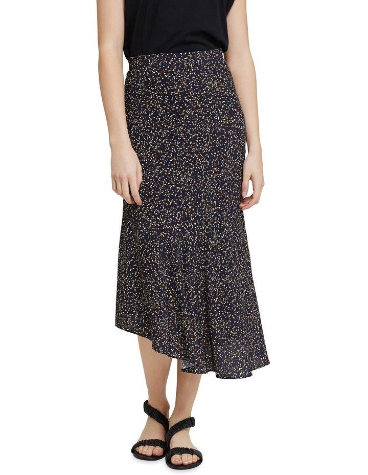 Mindi Black Confetti Midi Skirt image 1