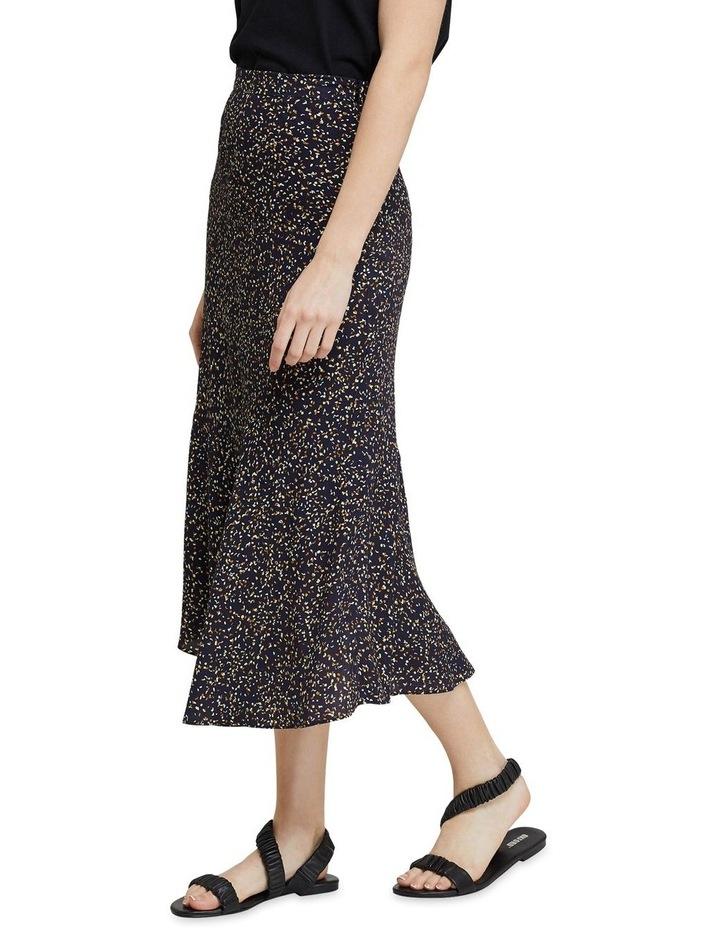 Mindi Black Confetti Midi Skirt image 2