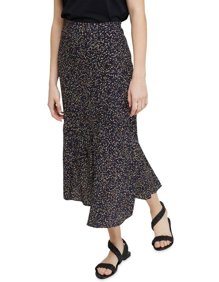 Mindi Black Confetti Midi Skirt image 4