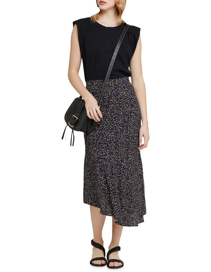 Mindi Black Confetti Midi Skirt image 5