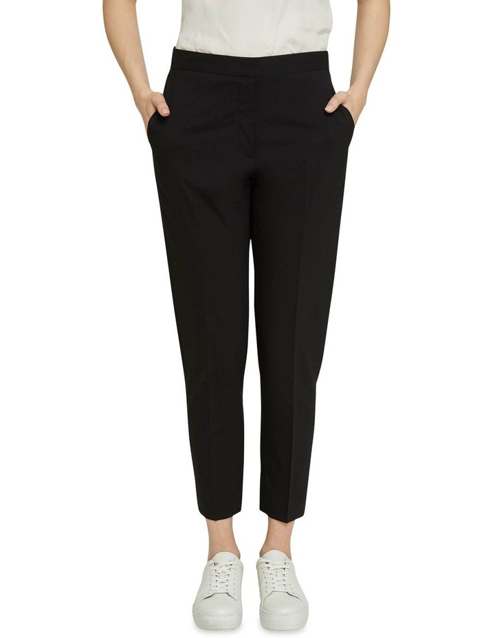 Charla Black Wool Stretch Suit Pants image 1