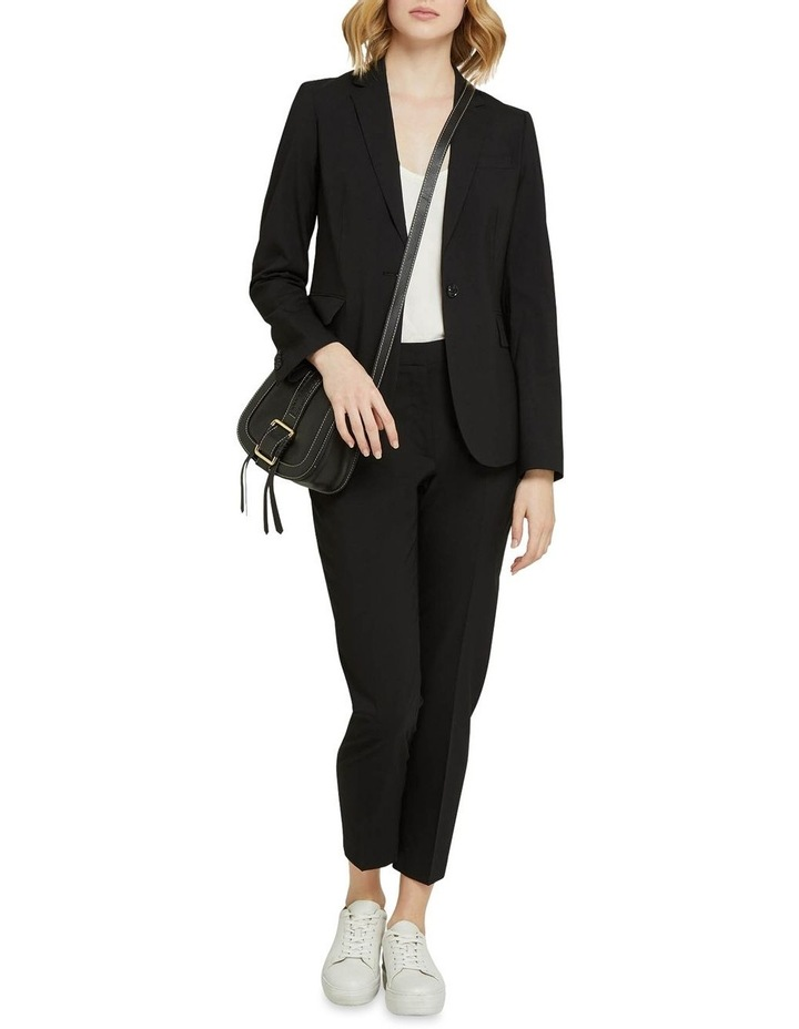 Charla Black Wool Stretch Suit Pants image 5