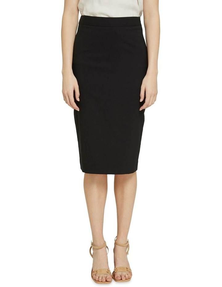 Peggy Black Wool Stretch Suit Skirt image 1