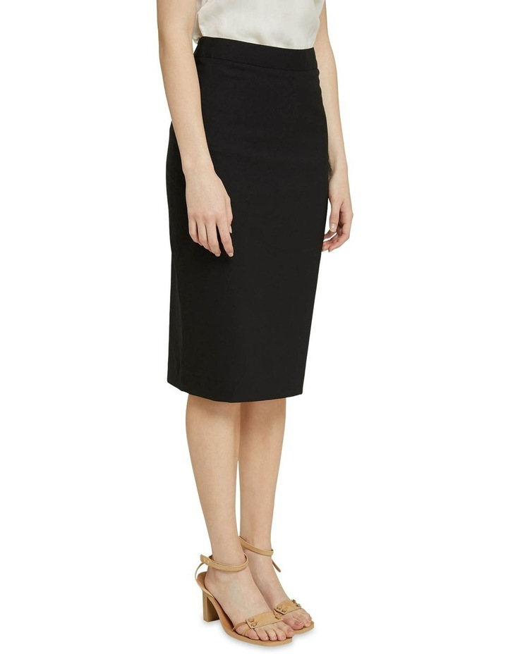 Peggy Black Wool Stretch Suit Skirt image 2