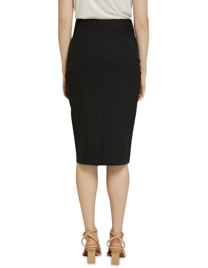 Peggy Black Wool Stretch Suit Skirt image 3