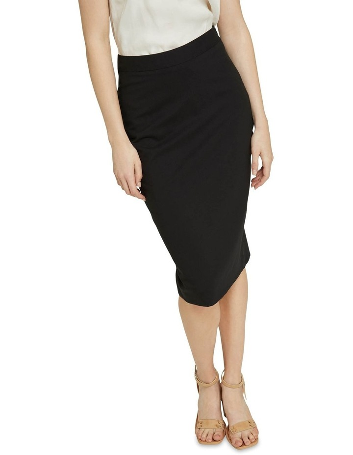Peggy Black Wool Stretch Suit Skirt image 4