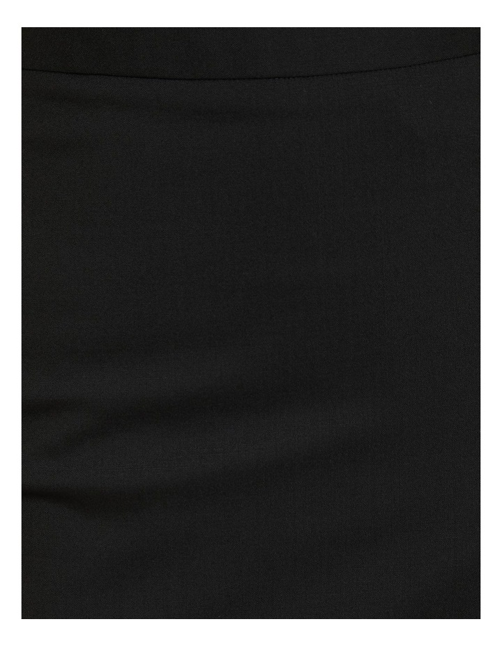 Peggy Black Wool Stretch Suit Skirt image 6