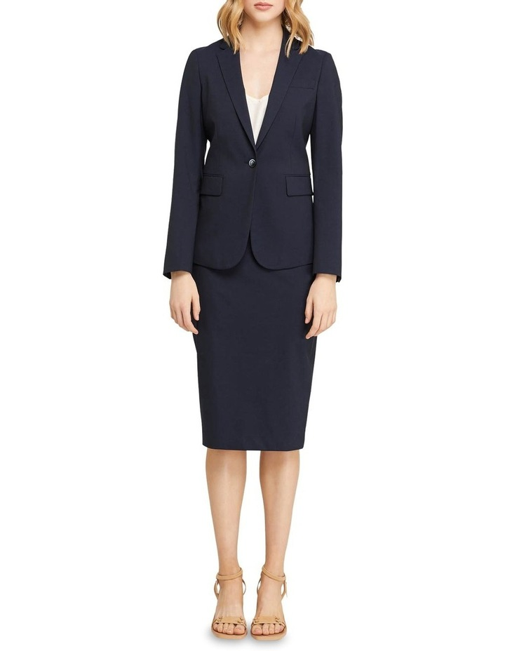 Peggy Wool Stretch Suit Skirt image 5