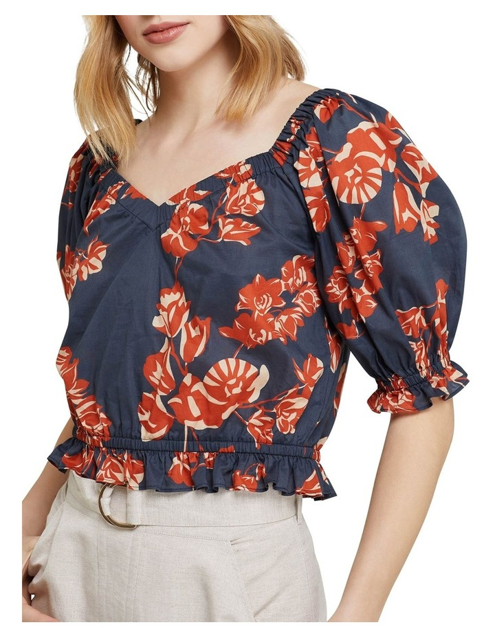 Billy Tropical Print Cotton Top image 4