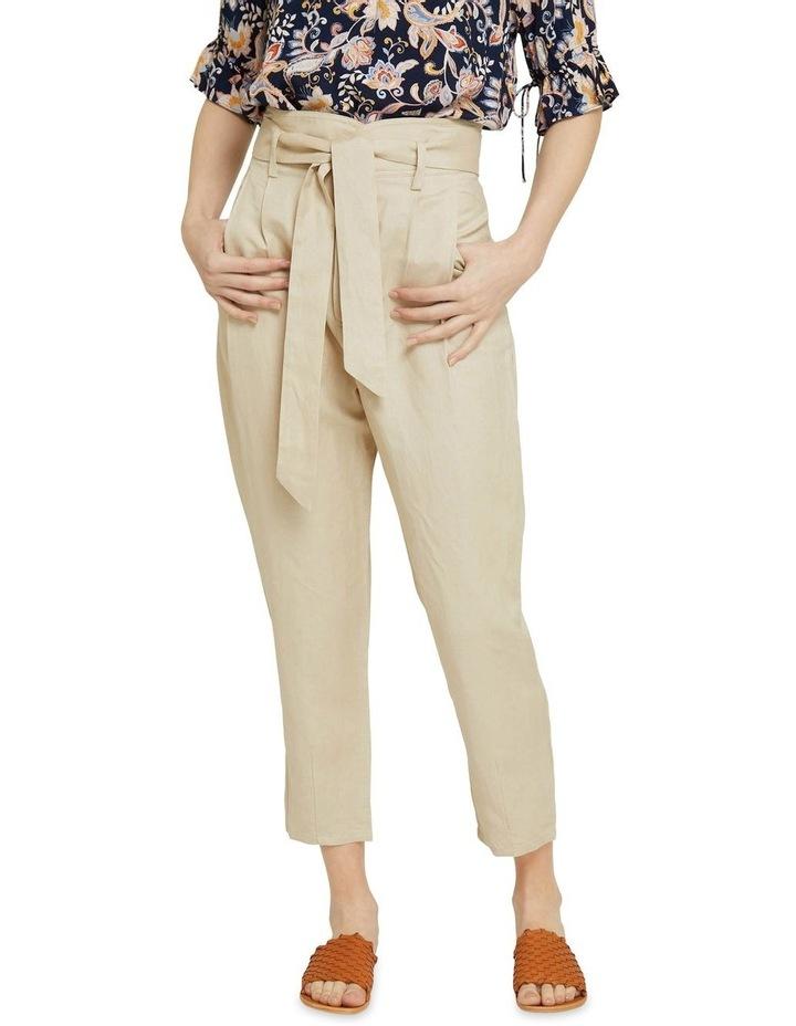 Ariel Linen Blend Crop Pants image 1
