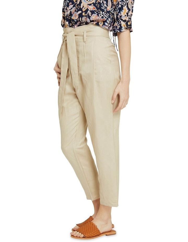 Ariel Linen Blend Crop Pants image 2