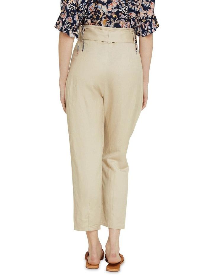 Ariel Linen Blend Crop Pants image 3