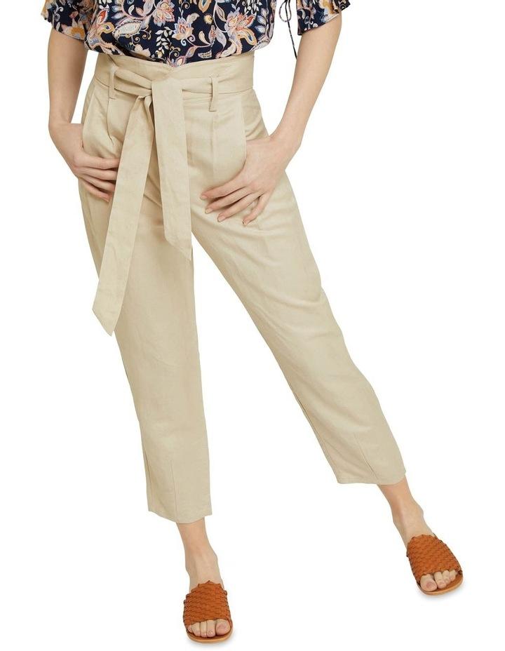 Ariel Linen Blend Crop Pants image 4