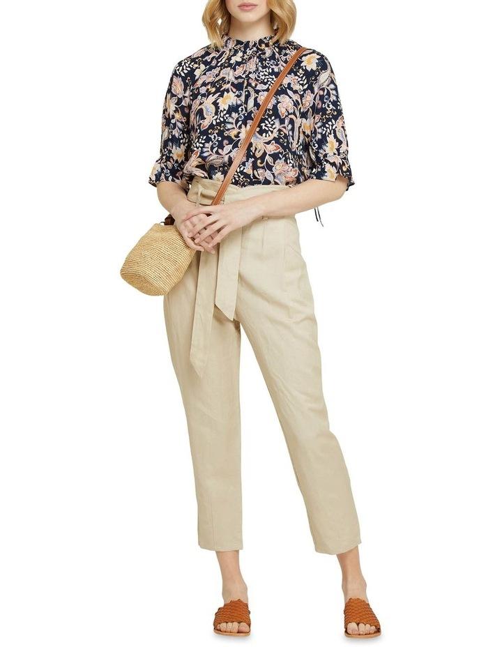 Ariel Linen Blend Crop Pants image 5