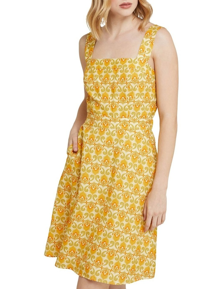 Tali Printed Linen Dress image 4