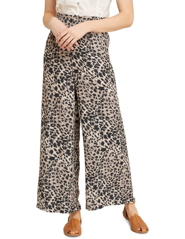 Kitty Wide Leg Animal Print Pants image 1
