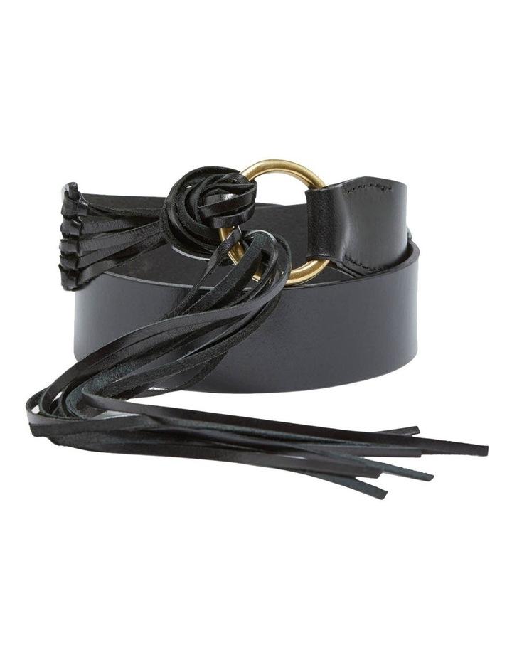 Mika Leather Fringe Belt image 1